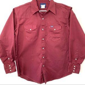 WRANGLER Men's Cowboy Cut Long Sleeve Work Shirt